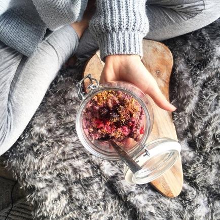 Chia, Oats, Seeds & Frozen Berries