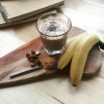 Peanut Butter, Banana, Hemp Milk Smoothie