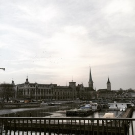 Zurich, view of the canal